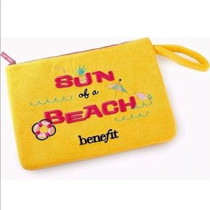 Benefit Cosmetics Sun of a Beach 12x9 bag pouch